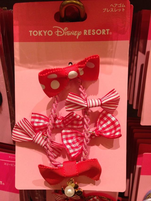 水玉のヘアゴム ブレスレットが1000円→500円になっています