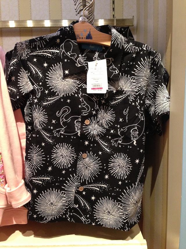 ジーニーが描かれた、子ども向けアロハシャツが2300円→1400円になっています
