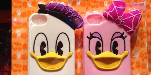 おばけアートのドナルドとデイジーのスマートフォンケースセットが3500円→1800円になっています