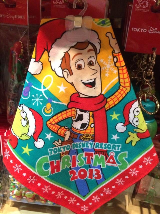 クリスマス トイストーリーのバンダナが600円→450円になっています